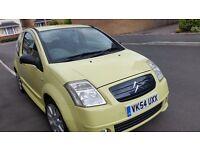 Citroen C2 vts long mot cheap on fuel and tax alloy wheels cd heating tidy economical 595ono