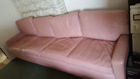 Extra Long Custom Built Pink Sofa