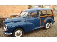 Morris Minor Traveller 1965 - Trafalgar Blue - In good useable order.
