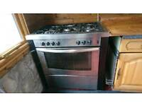 New world DF90 professional range Dual Fuel cooker