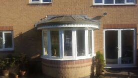 UPVC White double glazed band stand feature