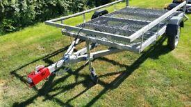 Trailer - galvanised suitable for ride on mower/quad bike etc