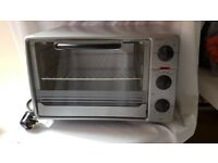 Electric Mini Oven Fan Assisted Tchibo 1500W Grey Portable Wire Rack and Tray Used a few times
