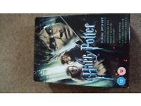 Harry potter 7 Disk dvd set excellent condition