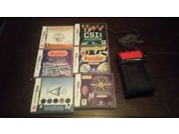 Nintendo DS Lite Silver Console with 12 Games Handheld