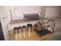 Chrome kitchen accesories