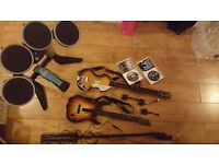 £30 Rockband & Beatles PS3 FULL SET - 2 Guitars, Drumkit & Sticks, Microphone, Extra adapters