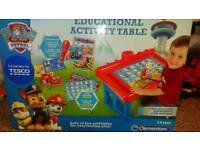Paw patrol educational table and books