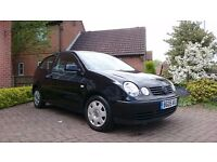 VW BLACK POLO 1.2 ENGINE 3 DOOR FOR SALE 2005 plate new 1 year MOT