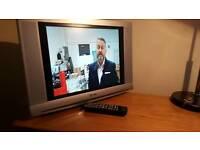 """14"""" TV with free veiw box"""