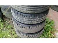 Ford focus 4 stud steel rims with 185 65 14 tyres