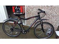 Diamondback Stealth mountain bike, Bell helmet and high pressure pump.