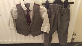 Boys Next Waistcoat and Trousers Set with Shirt and Tie