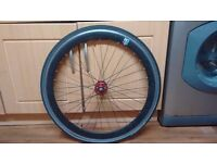 700c Black No Logo Front Wheel with Tyre