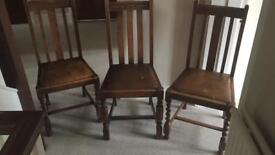 Dining chairs £5 ea. £10 for 3