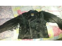 leather jacket and gloves motorbike
