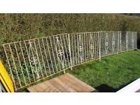 WROUGHT IRON FENCE RAILINGS ....NOW SOLD!!!!