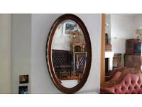 Lovely brown with black colour frame mirror, Excellent condition