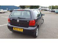 2000 Volkswagen Polo 1.4 SE AUTOMATIC FULL SERVICE 15 STAMPS Full MOT Black Color Punto Clio Vw Auto