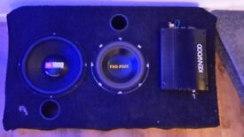 Amp and subwoofer speakers