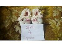 Baby slippers size 4