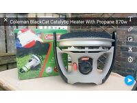 coleman catalytic heater with propane