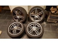 Set of 5 vauxhall ac 18 inch alloy wheels
