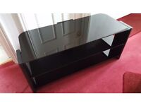 ALPHASON 3 tier Glass TV Stand