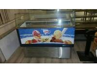 ICE CREAM DISPLAY FREEZER, SERV OVER COUNTER, CAN BE DELIVERED