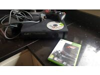 Xbox 360 with controller and 2 games