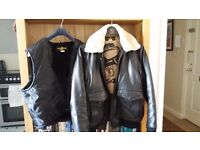 Heavy Leather Aviation Jacket