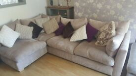 Comfy corner sofa with footstool