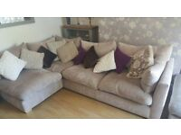 Comfy corner sofa with footstool