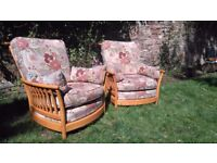 2 ercol arm chairs, very good condition
