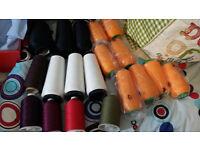 Large Reels of overlocking threads job lot