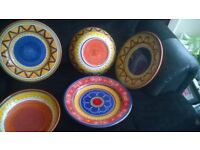 For sale 5 pieces earthenware