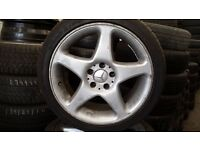 "Set of 4 18"" Mercedes alloy wheels"