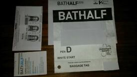 Bath Half Entry 4th March 2018,