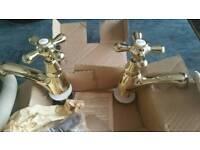 Brass antique taps