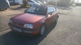 1995 Volkswagen Golf Cabriolet convertible 53k miles FSH, leather, M455CRV