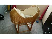 Baby wicker moses basket