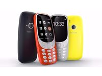 Nokia 3310 All colours many screen sizes Unlocked Fresh , boxed , sealed, all acessories accessories
