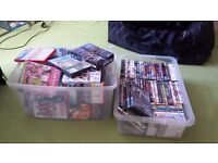 2 boxes of dvds normal and blue ray