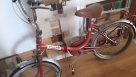 Vintage folding bike good condition