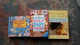 Baby name and pregnancy books