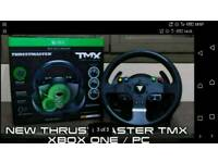 Thrustmaster TMX wheel force feedback XBOX ONE & WINDOWS. ARGOS RECEIPT PLUS 8 MTHS WARRANTY