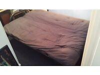 Double bed futon sofa metal base