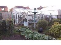 Wooden Greenhouse 18x12 foot. Seen better days...Free