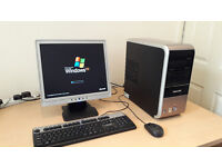 """Cheap full pc system setup with wifi (including 17"""" flat screen, keyboard & Mouse)"""