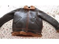Shearling Sheepskin Leather Flying Jacket